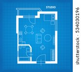 apartment floor line plan... | Shutterstock .eps vector #534030196