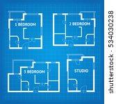 apartment floor plan... | Shutterstock .eps vector #534030238