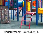 colorful playground on yard in... | Shutterstock . vector #534030718