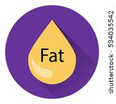 fat icon. flat style with long... | Shutterstock .eps vector #534035542