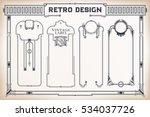 vintage frame design for labels ...