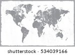 old map of the world.vector... | Shutterstock .eps vector #534039166