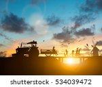 silhouette family of...   Shutterstock . vector #534039472