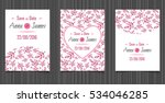modern wedding invitation with... | Shutterstock .eps vector #534046285
