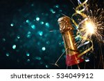abstract image of champagne... | Shutterstock . vector #534049912