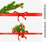 christmas decorative elements... | Shutterstock .eps vector #534050932