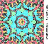 mosaic colorful artistic... | Shutterstock . vector #534059188