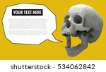 low poly skull open mouth to... | Shutterstock .eps vector #534062842
