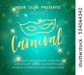 carnival mask  masquerade ... | Shutterstock .eps vector #534064342