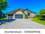 big custom made luxury house... | Shutterstock . vector #534069046