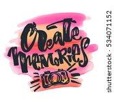 create memories concept ... | Shutterstock .eps vector #534071152