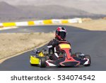 adult go kart racer on track | Shutterstock . vector #534074542