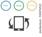 smartphone icon vector flat...