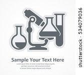 medicine analyzes symbols.... | Shutterstock .eps vector #534079036