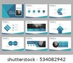blue triangle presentation...   Shutterstock .eps vector #534082942