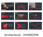 red black abstract presentation ... | Shutterstock .eps vector #534082996