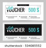 gift voucher coupon discount.... | Shutterstock .eps vector #534085552