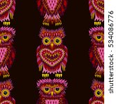 seamless pattern with bright... | Shutterstock .eps vector #534086776