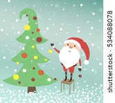 vector illustration with santa... | Shutterstock .eps vector #534088078