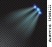 realistic beam light on... | Shutterstock .eps vector #534088222