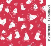 seamless pattern with christmas ... | Shutterstock .eps vector #534088306