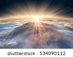 planet earth with a spectacular ... | Shutterstock . vector #534090112