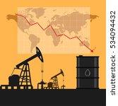oil industry concept. oil price ... | Shutterstock .eps vector #534094432