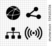 connection    vector icon  set | Shutterstock .eps vector #534101536
