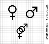 male and female    vector icon...