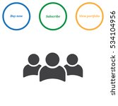 people icon vector flat design... | Shutterstock .eps vector #534104956