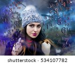 numerology  magic of numbers | Shutterstock . vector #534107782