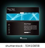 business web site design... | Shutterstock .eps vector #53410858