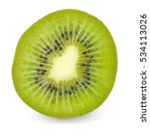 Kiwi Cut Isolated On White...