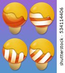 ice cream items for match 3...   Shutterstock .eps vector #534114406