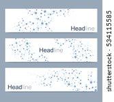 scientific set of modern vector ... | Shutterstock .eps vector #534115585