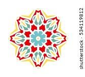 circular background. oriental... | Shutterstock .eps vector #534119812