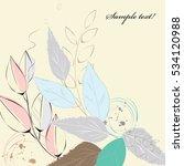abstract vintage leaf background   Shutterstock .eps vector #534120988