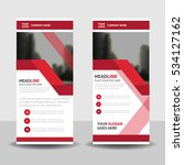 red business roll up banner...   Shutterstock .eps vector #534127162