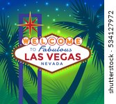 vector las vegas sign against... | Shutterstock .eps vector #534127972
