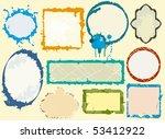 grunge frames set 2   Shutterstock .eps vector #53412922