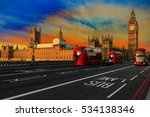 london  england  uk. red buses... | Shutterstock . vector #534138346