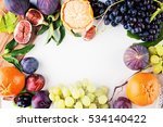 fruit background with grape ... | Shutterstock . vector #534140422
