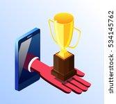 isometric vector cell phone... | Shutterstock .eps vector #534145762