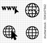 internet   vector  icons  set | Shutterstock .eps vector #534147562