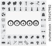 gray billiard icon illustration ... | Shutterstock .eps vector #534147982