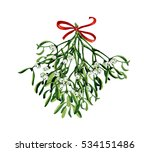 christmas watercolor with...   Shutterstock . vector #534151486