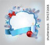 christmas frame background | Shutterstock .eps vector #534151666