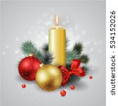 christmas composition with a... | Shutterstock .eps vector #534152026