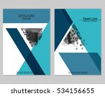 vector brochure cover templates ... | Shutterstock .eps vector #534156655