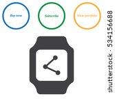smart watch icon vector  flat... | Shutterstock .eps vector #534156688